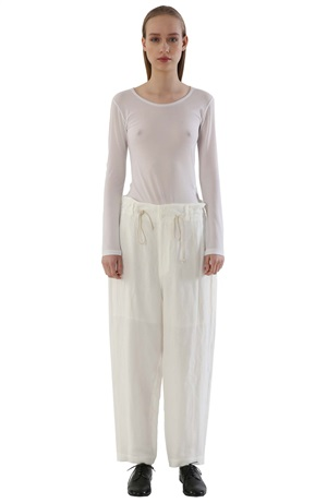 Trousers with elastic