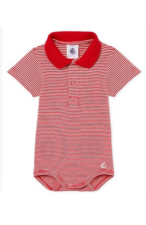 BODY MC COLLETTO POLO NEONATO MASCHIETTO MILLERIGHE 3-12 m