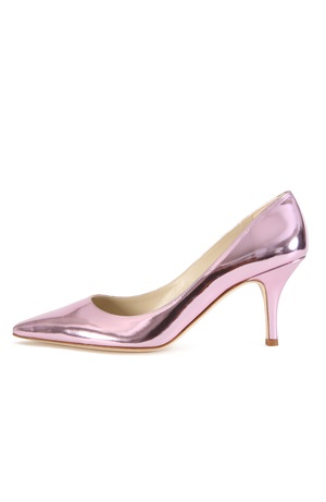 PINK LAQUERED PUMP 75MM