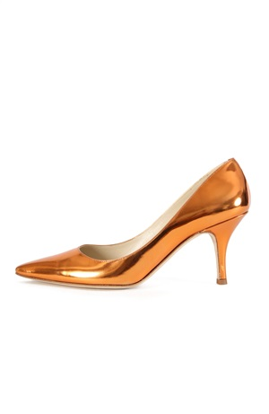 ORANGE LACQUERED PUMP 75 MM