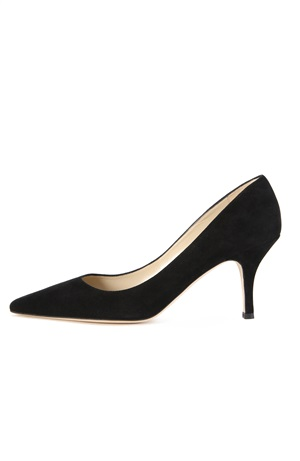 BLACK SUEDE PUMP 75 MM