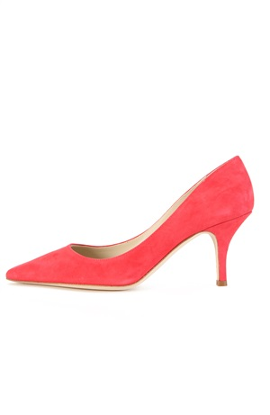 PINK SUEDE PUMP 75MM