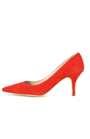 RED SUEDE PUMP 75MM