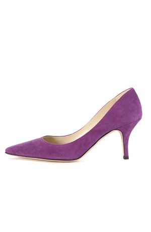 VIOLET SUEDE PUMP 75MM