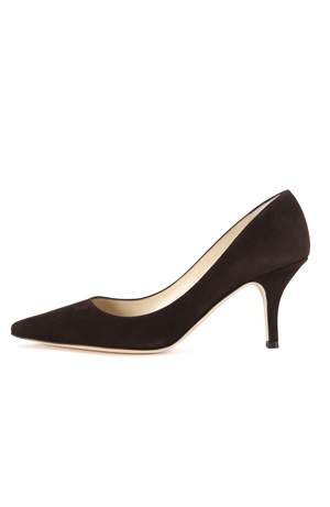 BROWN SUEDE PUMP 75MM