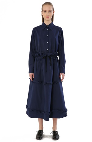 LONG SHIRT DRESS WITH BUTTONS
