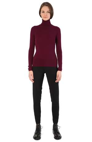 TURTLENECK CASHMERE TEE BEETROOT
