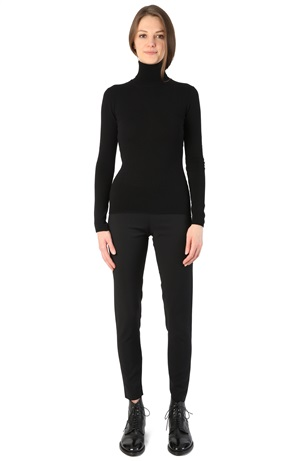 TURTLENECK CASHMERE TEE BLACK