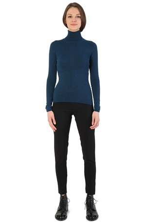 TURTLENECK CASHMERE TEE FAIR ISLE