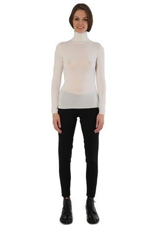 TURTLENECK CASHMERE TEE ICE WHITE