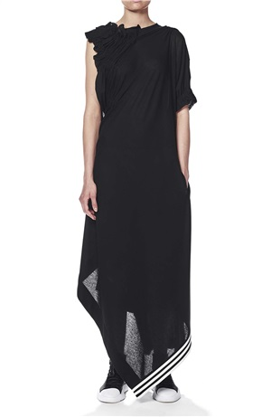 CREPE JERSEY YOHJI STP LONG DRESS