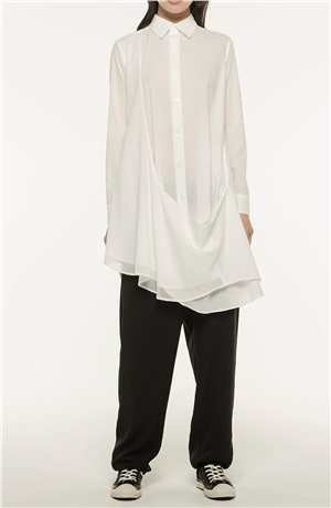 *NEW*Y'S ASYMMETRICAL LONG BLOUSE